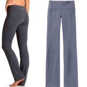 Athleta blue grey straight up yoga pants sz Large